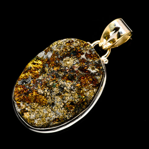 Spectro Pyrite Druzy Pendants handcrafted by Ana Silver Co - PD733060