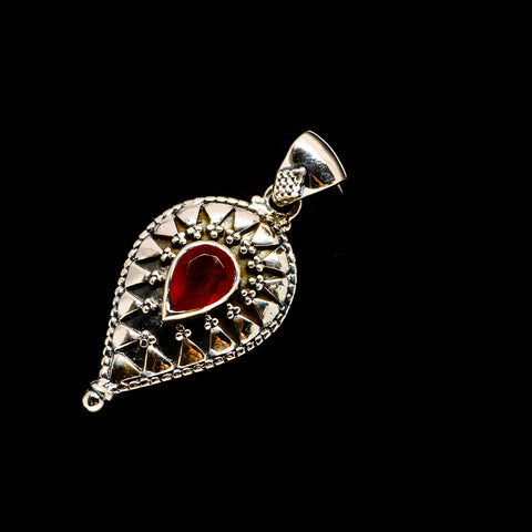 Red Onyx Pendants handcrafted by Ana Silver Co - PD733231