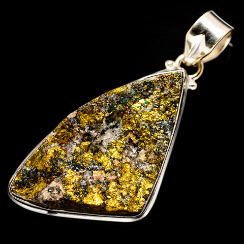 Spectro Pyrite Druzy Pendants handcrafted by Ana Silver Co - PD733349