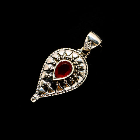 Red Onyx Pendants handcrafted by Ana Silver Co - PD733416