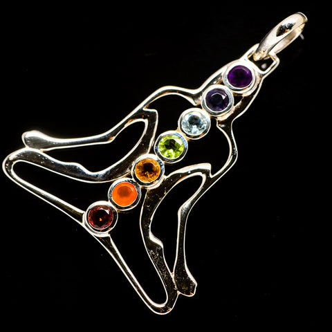 Multi-Stone Chakra Pendants handcrafted by Ana Silver Co - PD733428