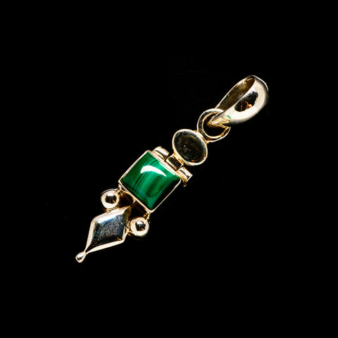 Malachite Pendants handcrafted by Ana Silver Co - PD733481