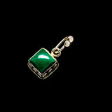 Malachite Pendants handcrafted by Ana Silver Co - PD733812