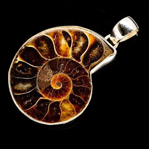 Ammonite Fossil Pendants handcrafted by Ana Silver Co - PD735491
