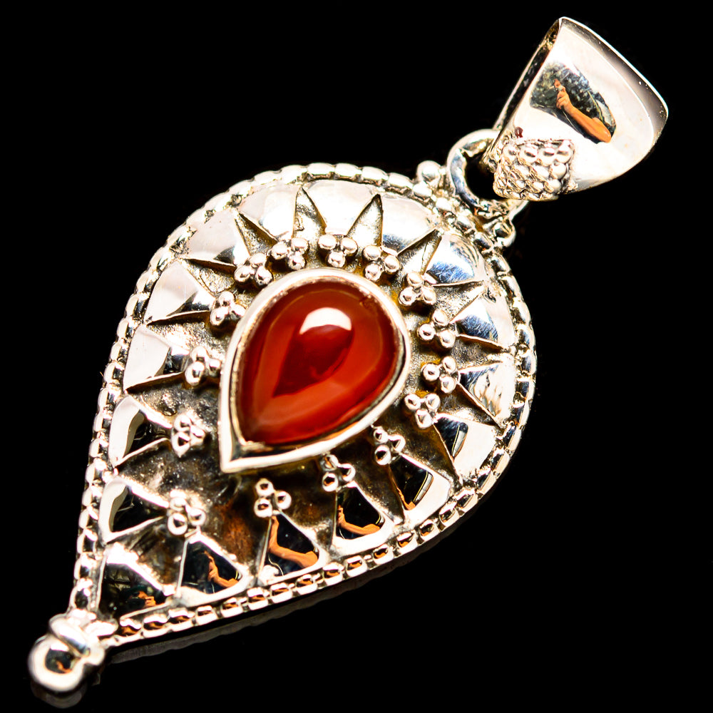 Red Onyx Pendants handcrafted by Ana Silver Co - PD736079