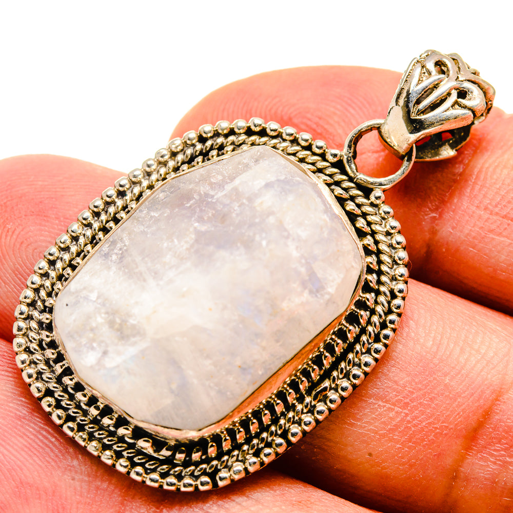Rainbow Moonstone Pendants handcrafted by Ana Silver Co - PD736701