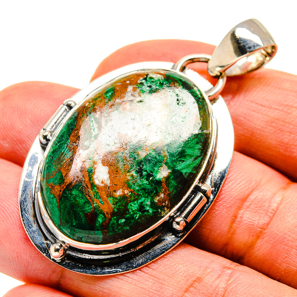 Chrysocolla Pendants handcrafted by Ana Silver Co - PD738316