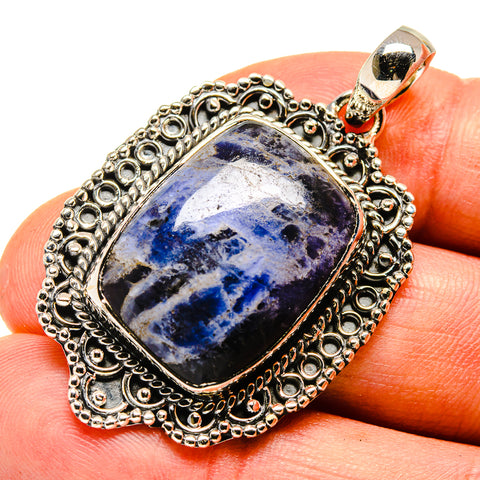 Sodalite Pendants handcrafted by Ana Silver Co - PD738336