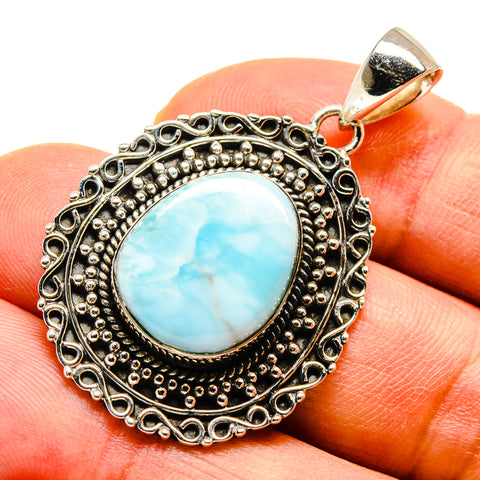 Larimar Pendants handcrafted by Ana Silver Co - PD738494