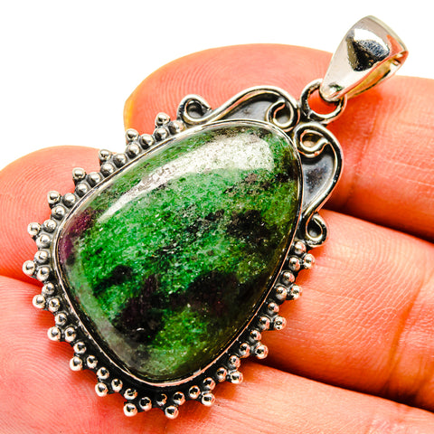 Ruby Zoisite Pendants handcrafted by Ana Silver Co - PD738534