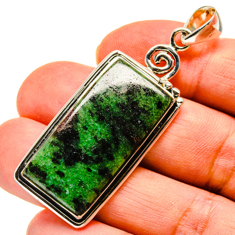Ruby Zoisite Pendants handcrafted by Ana Silver Co - PD738566