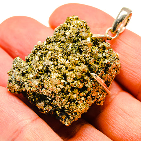 Pyrite Druzy Pendants handcrafted by Ana Silver Co - PD738766