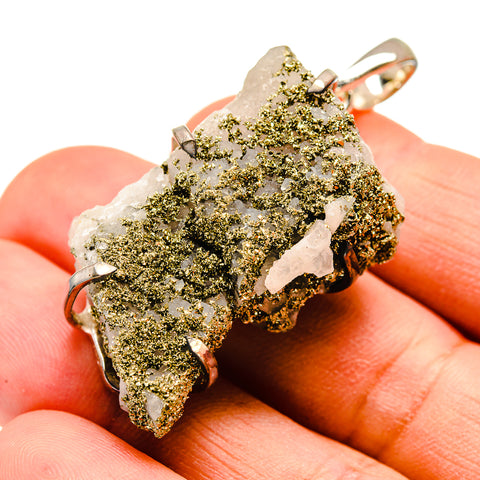 Quartz Pyrite Pendants handcrafted by Ana Silver Co - PD738769