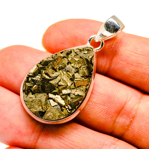 Pyrite Pendants handcrafted by Ana Silver Co - PD739120