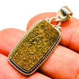 Spectro Pyrite Druzy Pendants handcrafted by Ana Silver Co - PD739165