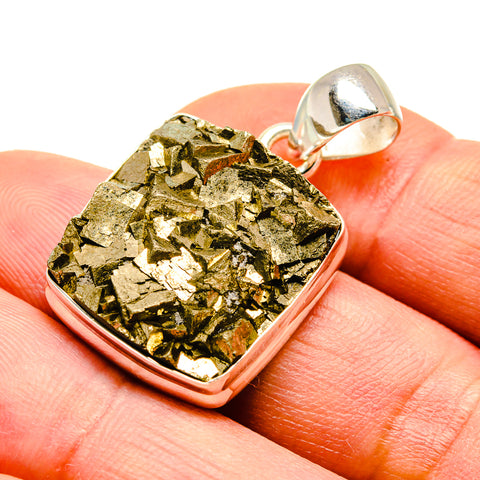 Pyrite Pendants handcrafted by Ana Silver Co - PD739447