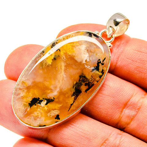 Plume Agate Pendants handcrafted by Ana Silver Co - PD739583