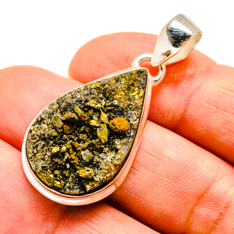 Pyrite Pendants handcrafted by Ana Silver Co - PD739691