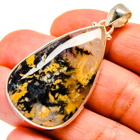 Plume Agate Pendants handcrafted by Ana Silver Co - PD739855