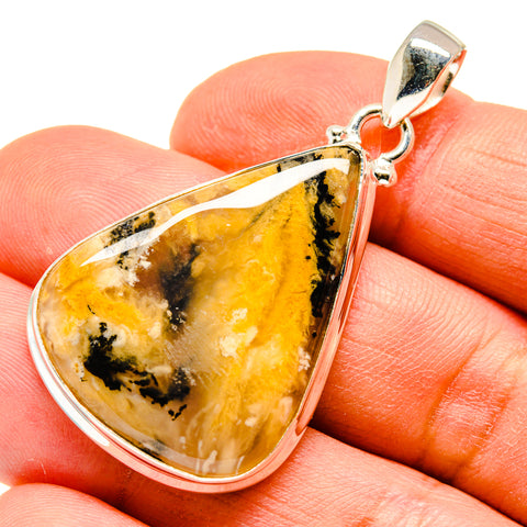 Plume Agate Pendants handcrafted by Ana Silver Co - PD740772