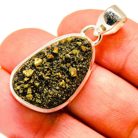 Pyrite Pendants handcrafted by Ana Silver Co - PD740821