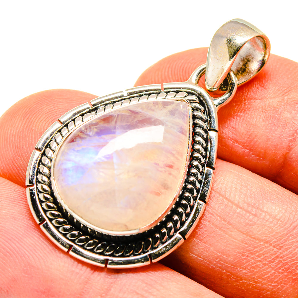 Rainbow Moonstone Pendants handcrafted by Ana Silver Co - PD740828