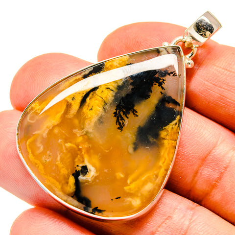 Plume Agate Pendants handcrafted by Ana Silver Co - PD740946