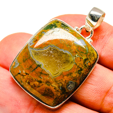 Rainforest Opal Pendants handcrafted by Ana Silver Co - PD741016