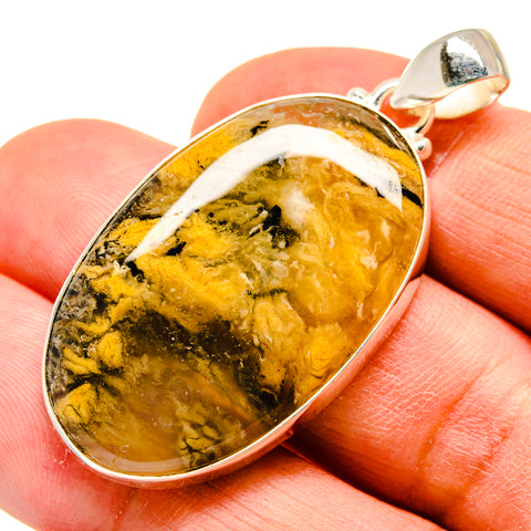 Plume Agate Pendants handcrafted by Ana Silver Co - PD741088