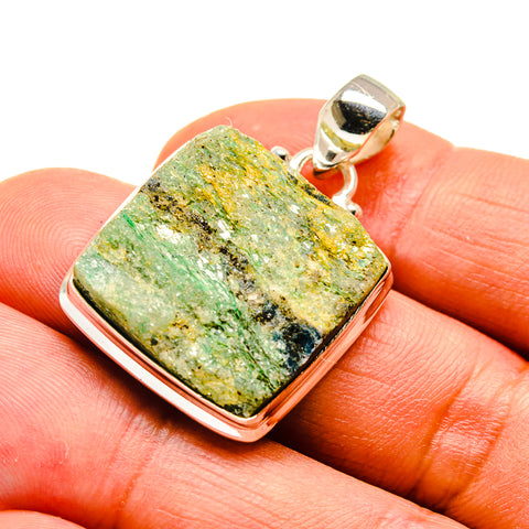 Green Fuchsite Crystal Pendants handcrafted by Ana Silver Co - PD741495