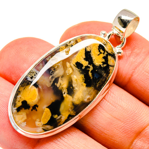 Plume Agate Pendants handcrafted by Ana Silver Co - PD741832