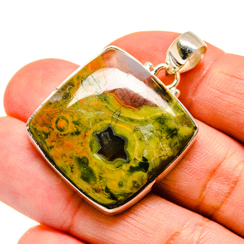 Rainforest Opal Pendants handcrafted by Ana Silver Co - PD741857