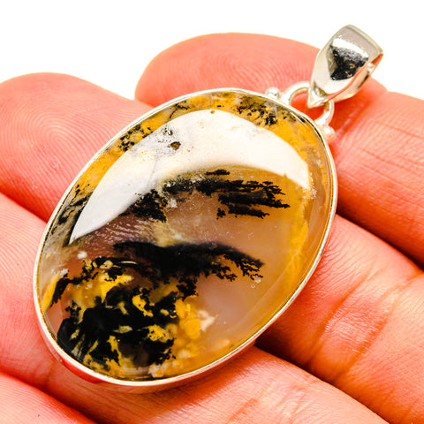 Plume Agate Pendants handcrafted by Ana Silver Co - PD741890