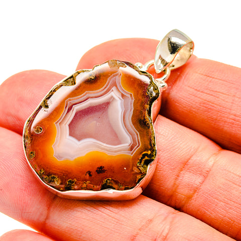 Agate Slice Pendants handcrafted by Ana Silver Co - PD742053