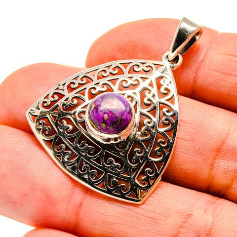 Purple Copper Composite Turquoise Pendants handcrafted by Ana Silver Co - PD742120