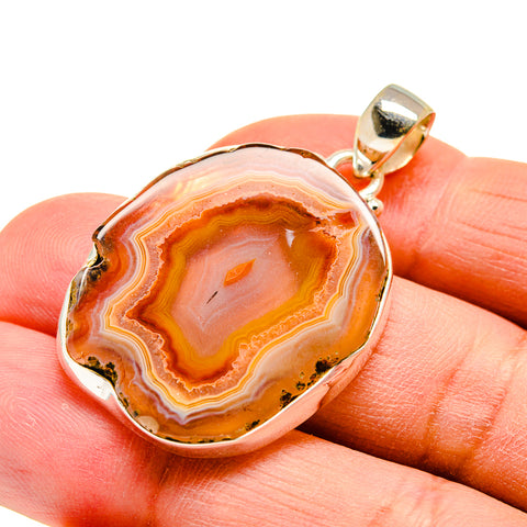 Agate Slice Pendants handcrafted by Ana Silver Co - PD742206