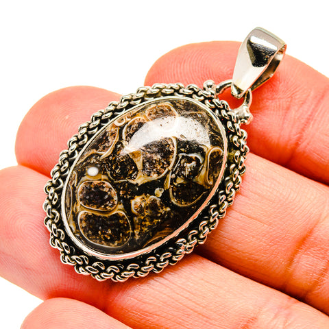 Turritella Agate Pendants handcrafted by Ana Silver Co - PD742832