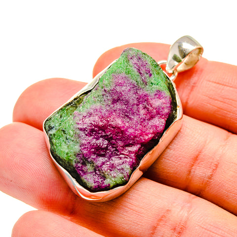 Ruby Zoisite Pendants handcrafted by Ana Silver Co - PD743113