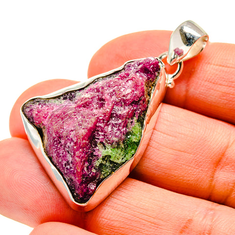 Ruby Zoisite Pendants handcrafted by Ana Silver Co - PD743302