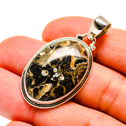 Turritella Agate Pendants handcrafted by Ana Silver Co - PD743475