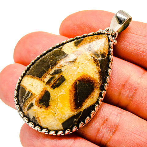 Septarian Nodule Pendants handcrafted by Ana Silver Co - PD743510