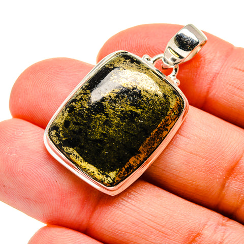 Pyrite In Black Onyx Pendants handcrafted by Ana Silver Co - PD743648