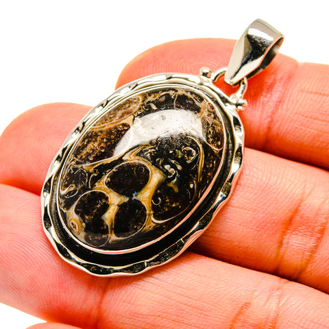 Turritella Agate Pendants handcrafted by Ana Silver Co - PD744153