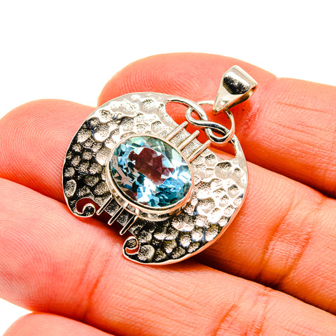 Blue Topaz Pendants handcrafted by Ana Silver Co - PD744337
