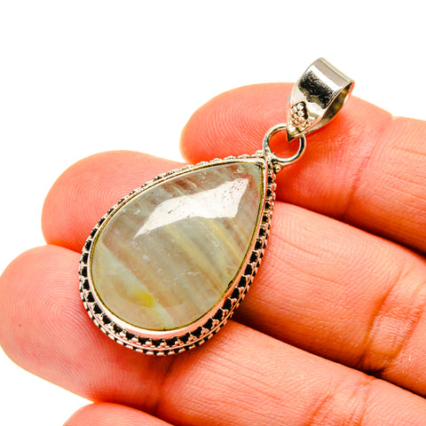 Green Fluorite Pendants handcrafted by Ana Silver Co - PD744570