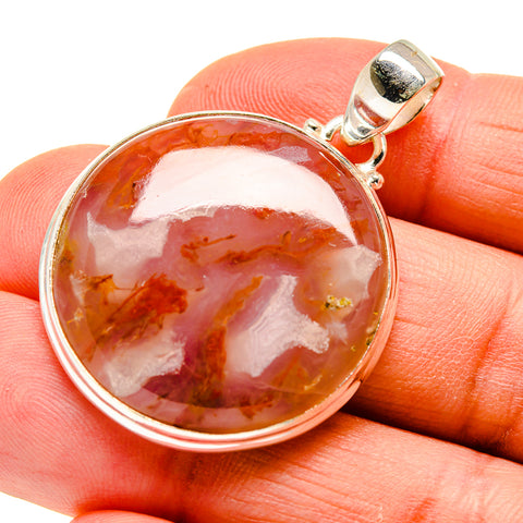 Plume Agate Pendants handcrafted by Ana Silver Co - PD744786
