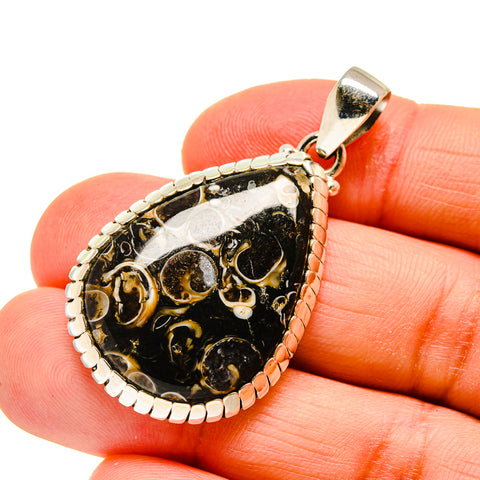 Turritella Agate Pendants handcrafted by Ana Silver Co - PD744979