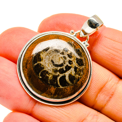 Orthoceras Fossil Pendants handcrafted by Ana Silver Co - PD745235