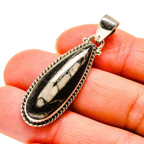 Orthoceras Fossil Pendants handcrafted by Ana Silver Co - PD745352
