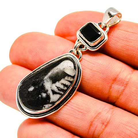 Pinolith Jasper, Black Onyx Pendants handcrafted by Ana Silver Co - PD746231